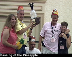 Passing the pineapple